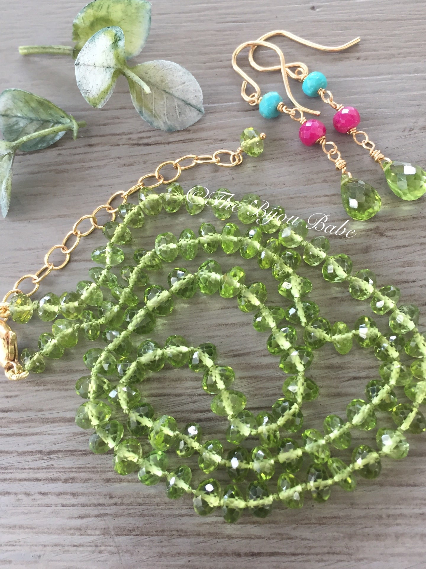 Peridot Candy Necklace