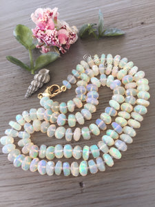 14kt Gold Faceted Ethiopian Opal Necklace