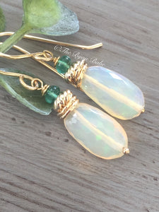 Ethiopian Opal Nugget Earrings