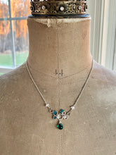 Load image into Gallery viewer, Sterling Silver Teal Quartz Bubble Pendant