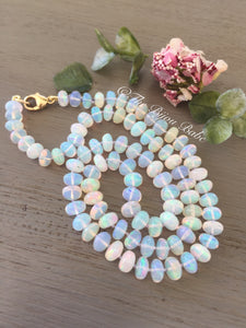14kt Gold Ethiopian Opal Necklace