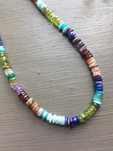 Carica l'immagine nel visualizzatore di Gallery, Multi Gemstone Color Wheel Necklace