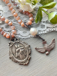 Madonna and Child and Holy Dove Necklaces