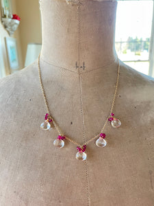 Crystal Quartz Briolette Necklace