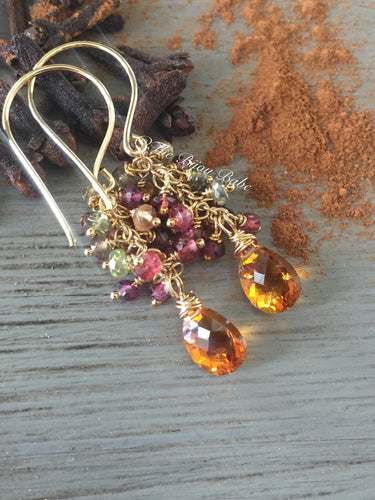 Citrine Tassel Earrings