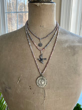 Load image into Gallery viewer, Holy Dove Pendant on Mystic Moonstone
