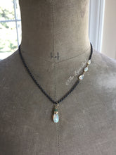 Load image into Gallery viewer, Ethiopian Opal Nugget Pendant Oxidized Silver Chain