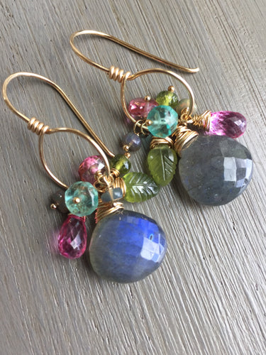 Labradorite Multi Gem Earrings
