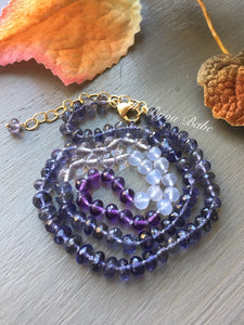 Iolite and Amethyst Candy Necklace