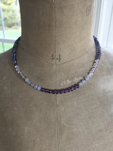 Load image into Gallery viewer, Iolite and Amethyst Candy Necklace
