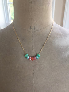 Gemstone Slider Bead Candy Necklaces