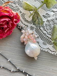 "Baroque Pearl Cluster Pendant ""Dogwood"""