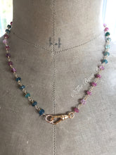 Load image into Gallery viewer, Tourmaline Charm Holder Necklace-Reserved for Deb