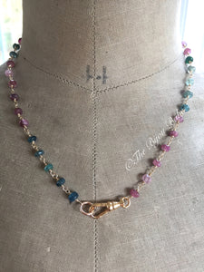 Tourmaline Charm Holder Necklace-Reserved for Deb