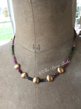 Load image into Gallery viewer, Multi Tourmaline Coin Necklace