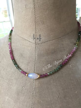 Load image into Gallery viewer, Reserved for Celina Multi Tourmaline and Opal Layering Necklace