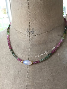 Reserved for Celina Multi Tourmaline and Opal Layering Necklace