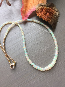 Delicate Ethiopian Opal Necklace