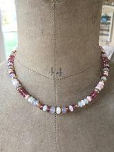 Load image into Gallery viewer, Ethiopian Opal, Pink Topaz and Pink Opal Necklace