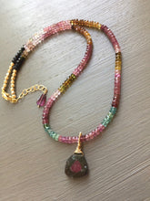 Load image into Gallery viewer, Watermelon Tourmaline Necklace