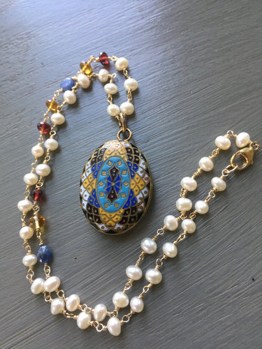 Antique French Enamel Locket