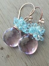 Load image into Gallery viewer, Pink Amethyst Cluster Earrings