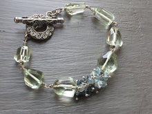 Load image into Gallery viewer, Green Amethyst Nugget Bracelet