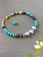 Load image into Gallery viewer, Sleeping Beauty Turquoise  Layering Bracelet