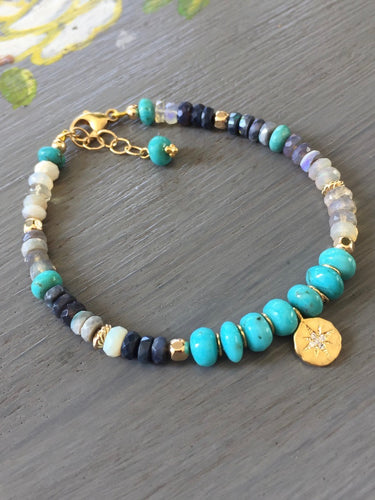 Sleeping Beauty Turquoise Layering Bracelet