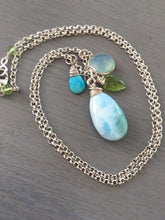 Load image into Gallery viewer, Larimar Charm Necklace