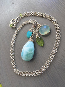 Larimar Charm Necklace