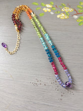 Load image into Gallery viewer, Rainbow Gemstone Necklace