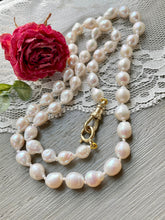Load image into Gallery viewer, 14k Petite Baroque Pearl Necklace