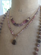 Load image into Gallery viewer, Multi Spinel Briolette Bar Necklace