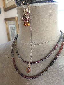 Multi Colored Garnet Necklace