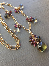 Charger l'image dans la galerie, Gemstone Bi Color Quartz Necklace