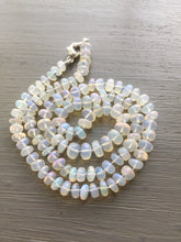 Load image into Gallery viewer, Ethiopian Opal Hand Knotted Silk Necklace