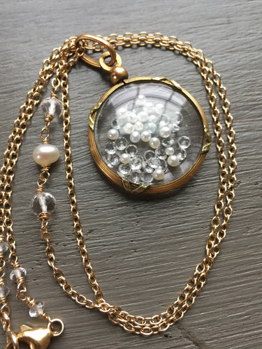 Antique French Shake Locket with Pearls