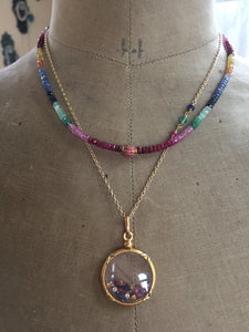 Precious Gemstone Shake It Locket