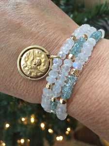 Antique Cherub Wrap Bracelet