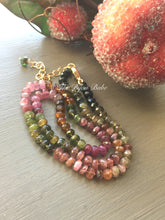 Load image into Gallery viewer, Tourmaline Necklace Hand Knotted Silk
