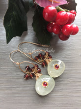 Load image into Gallery viewer, Chrome Diopside and Garnet Earrings