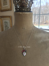 Load image into Gallery viewer, Sterling Silver Guilloche Heart Talisman Necklace
