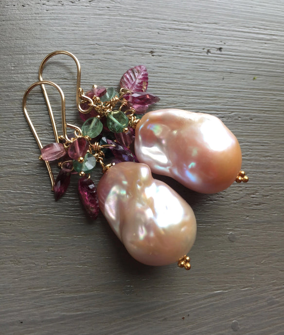 Blush Baroque Pearl Earrings