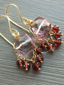 Pink Quartz Boho Luxe Earrings