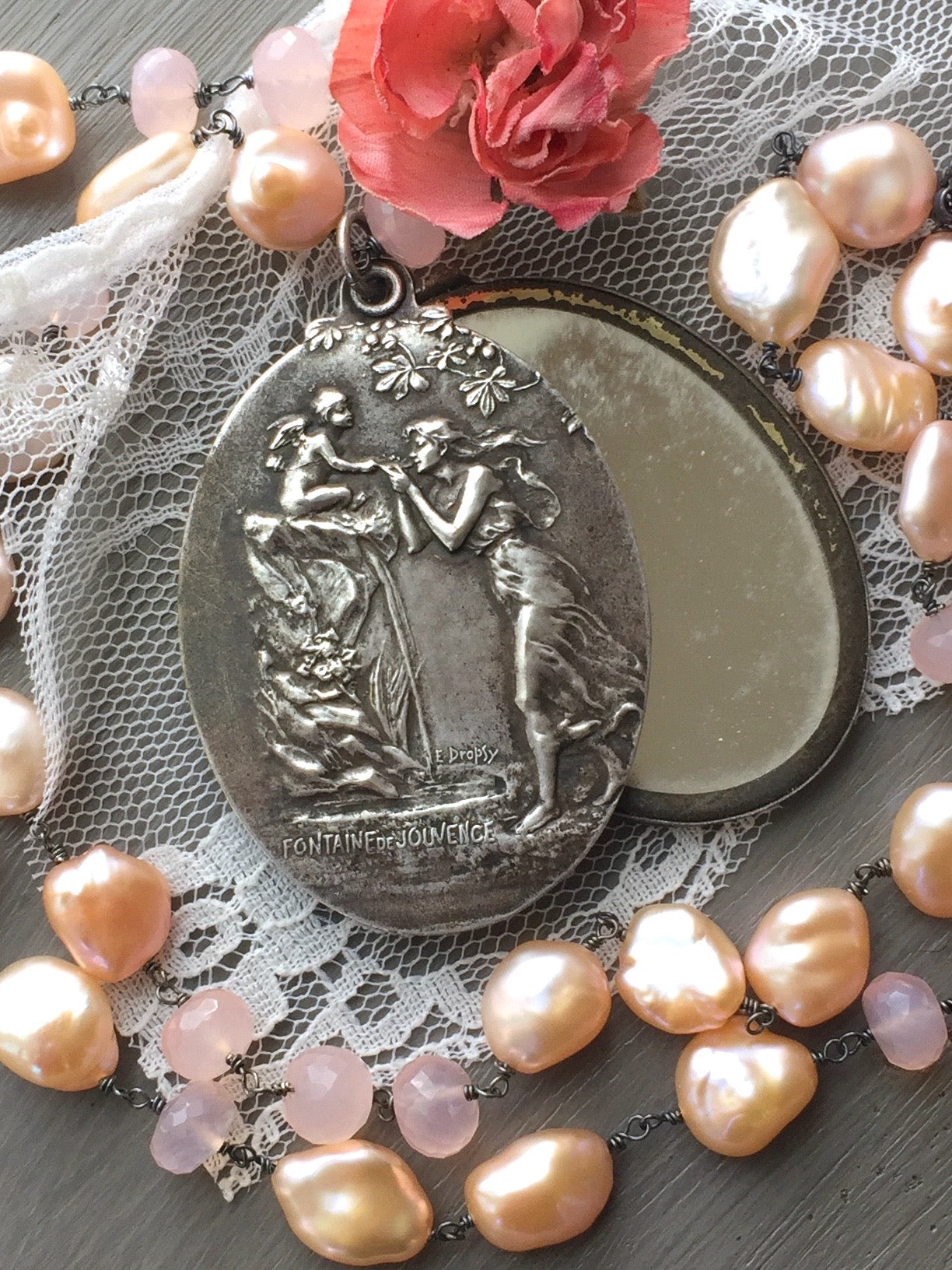 Art Nouveau Slide Locket