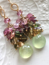 Load image into Gallery viewer, Tourmaline Cluster Earrings