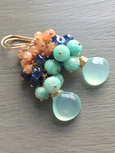 Load image into Gallery viewer, Aqua Chalcedony Earrings