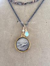 Load image into Gallery viewer, French Swallow Locket Je Porte Bonheur