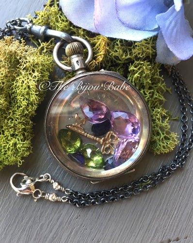 Antique Pocket Watch Shaker Locket
